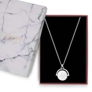 Lipsy - Silver lipsy spinning disc necklace (was £18) Now £5.40 C&C plus £5 voucher w/code / Free Delivery at Debenhams