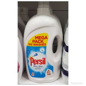 Persil non-bio liquid 105 washes £9.79 instore Home Bargains