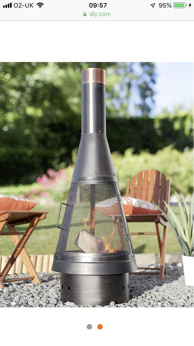 La Hacienda Colorado Steel chimnea was £40 now £10 in store only @ B&Q