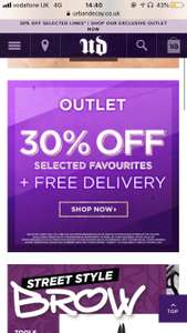 30% off selected urban decay products plus free shipping !
