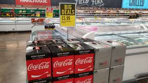 Coke Cola Diet and Zero 24 cans for £5.99 @ Iceland