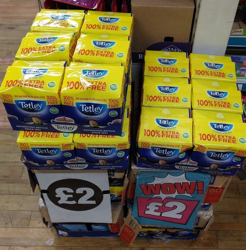 "Tetley Teabags ""100% Extra Free"" 160 Pack, £2, Poundland In Store (Argyle Street, Glasgow)"