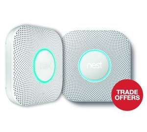 Nest protect 2nd gen wired Wired Smoke and CO2 Detector  2 pack £156 @ Travis Perkins