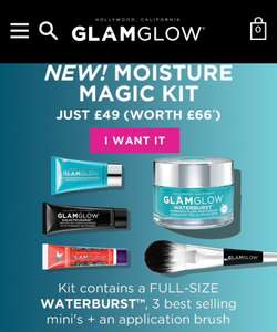 GLAMGLOW Magic Moisture Kit Just £49 Worth (£66) Delivered @ Glamglow