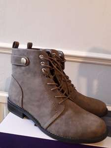 Ladies Lace up boots  Tesco (in store) - reduced to £17 but scanning at £12.