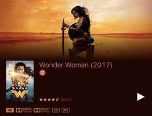Wonder Woman on Apple TV 4K HDR Dolby Vision and Atmos - £3.99 @ Itunes