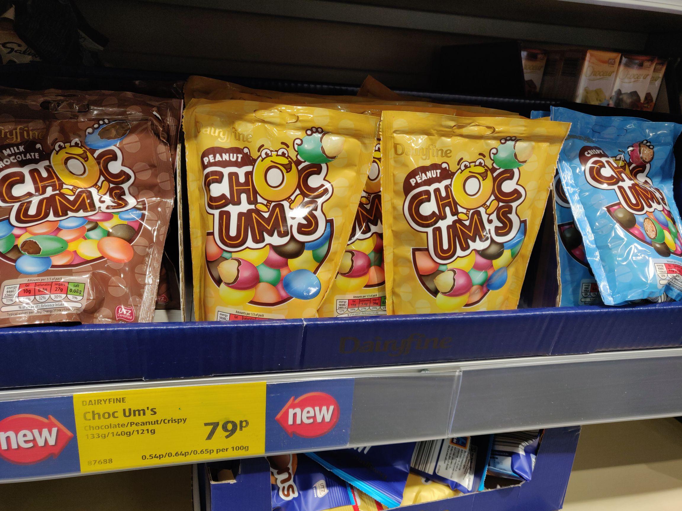 Choc Um's - ALDI's Own Brand M&M's - £0.79 Instore