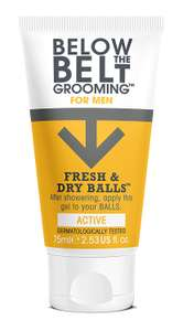 Below the Belt Grooming Fresh and Dry Balls, 75 ml, Active @ Amazon £5.95 for Prime Members / £10.44 non-Prime :D