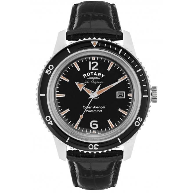 Rotary  Les Originales Ocean Avenger Mens watch sapphire crystal £79 @ HS Johnson