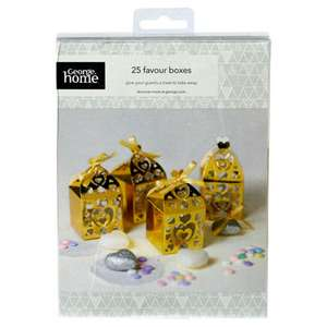 25 Gold Wedding / Party Favour Boxes was £2 now £1 instore @ Asda Living