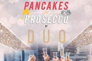 Bottomless Prosecco & Pancakes for Two at DUO Camden with Resident DJ - valid weekends for 10 mnths (was £60) Now £45 w/code at Buyagift