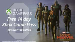 FREE 14 Day XBox game pass to celebrate 'Captain Marvel' release at Odeon to every guest who books tickets online