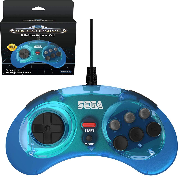 Retro-Bit Official SEGA Controllers for Mega Drive/Saturn/PC, pre-order from £14.99 (Prime) / £19.48 (non Prime) at Amazon