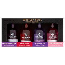 Whitley Neill Gin tasting selection gift set inc Pink Grapefruit, Parma Violet, Raspberry & Rhubarb & Ginger £11 @ Asda
