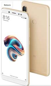 Xiaomi Redmi Note 5 Unlocked Mobile Phone 4G 64GB Gold Used Excellent Warehouse Deals - £127Fee free - £139 Without @ Amazon Italy