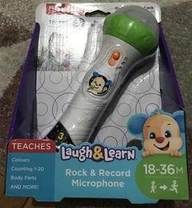 Fisher Price Laugh & Learn Rock & Record Microphone reduced to £3.75 in Boots instore