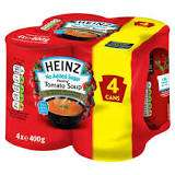 4 pack Heinz 'No Added Sugar' Tomato Soup - Sainsburys In-store - 10p