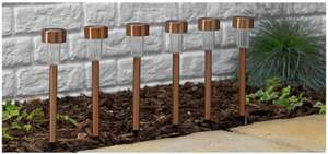 Set of 6 Solar Marker Lights - Copper (was £5.99 on SALE) now for £4.99  FREE C&C @ Argos