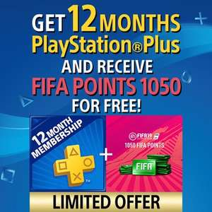 PlayStation Plus 12 Months + 1050 FIFA points £18.79 OR Call of Duty Black Ops 4 £41.23 from PlayStation PSN Store Indonesia