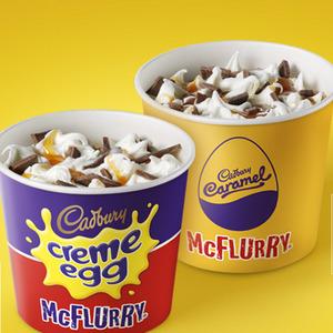 Cadbury's Creme egg Mcflurry & Cadburys Caramel Mcflurry 99p from 20th March