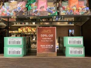 50% off a box of Lindt Mint bars £10.20 in Lindt Shop instore at Manchester Arndale