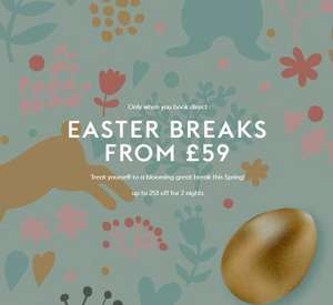 2 Night Spring Hotel Breaks from £59 (£29.50pp) at Village Hotels - Dates & Prices Vary Depending on Location