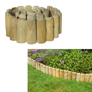 Garden Log Roll Edging Wooden 1.8m x 45cm now £4.99 + £5.99 Delivery (2 -4 rolls £9.99 Delivery) @ Brooklyn Trading
