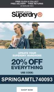 20% off Superdry with code