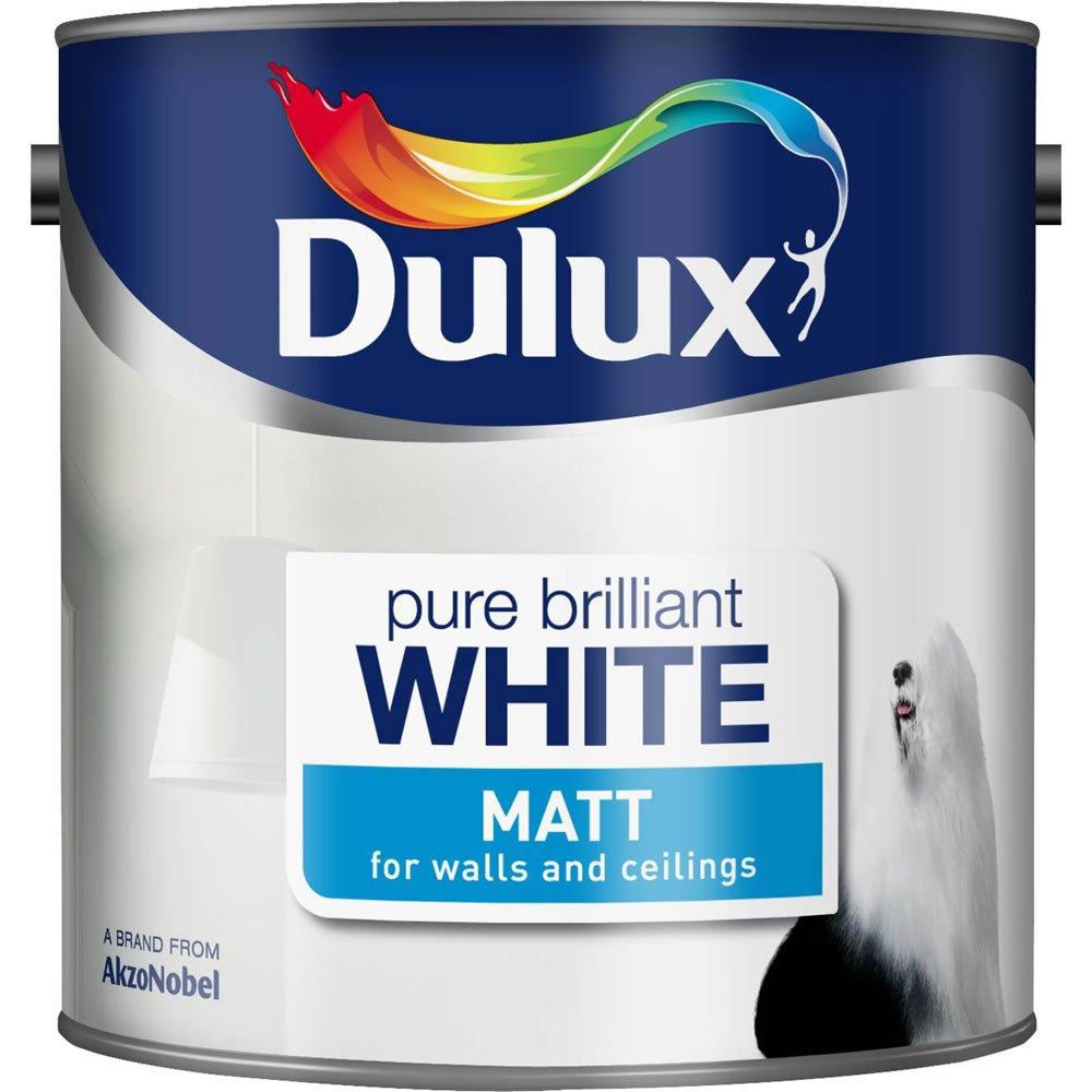 2.5L Dulux Pure Brilliant White Matt Emulsion Paint - £8 + Free C&C @ Wilko