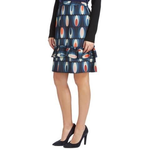Orla Kiely navy oval tulip skirt- £69 plus £5.95 postage. 2 colours. Sizes 6-14  @ BrandAlley.com