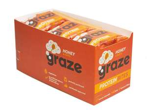 Graze Honey & Oats Protein Bites 30g (Pack of 15) £5.63 (Add On Item)  £4.79 with 15% S&S discount @ Amazon Other varieties available