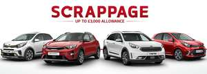 Up to £3000 off brand new Kia with scrappage scheme (cars registered for 7 years and over only)