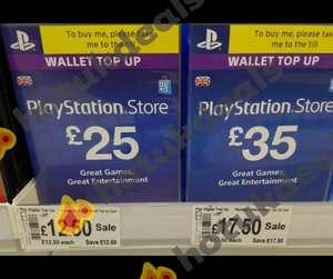 PSN Asda top ups half price only £12.50 for £25 and £17.50 for £35 instore - Fire Sale?