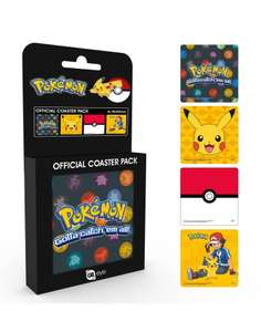 Pokémon Coasters 4-pack. £2 plus £1.20 delivery at GB Posters