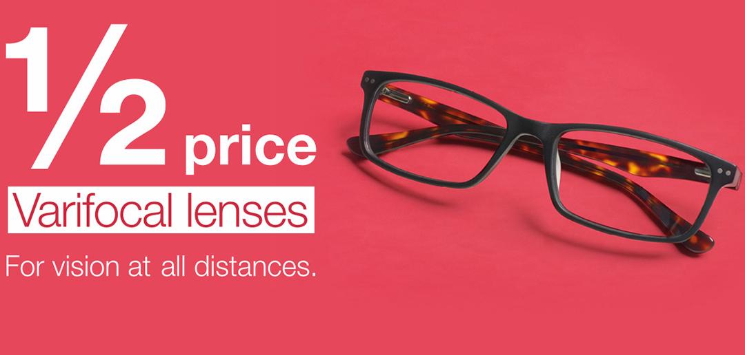 Half price varifocal lenses - Vision Express