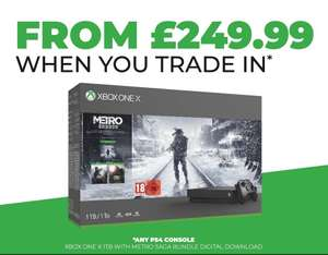Xbox One X + Metro Saga for £299.99 with Xbox One Trade In @ GAME (Talbot Green)