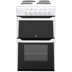Indesit IT50EWS 50cm Twin Cavity Electric Cooker in White £179 @ Co-op Electrical