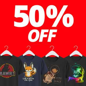 50% Off T-Shirts at Qwertee - 24 hours only - From £6