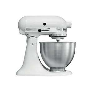 KitchenAid 5K45SSBWH 4.3 L Classic Stand Mixer - White - Refurbished - £169.99 @ eBay (Kitchenaid Outlet)