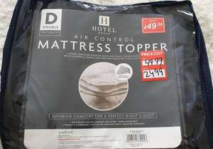 Hotel Mattress Topper - Reduced from £49.99 to £24.99 Instore @ Poundstretcher