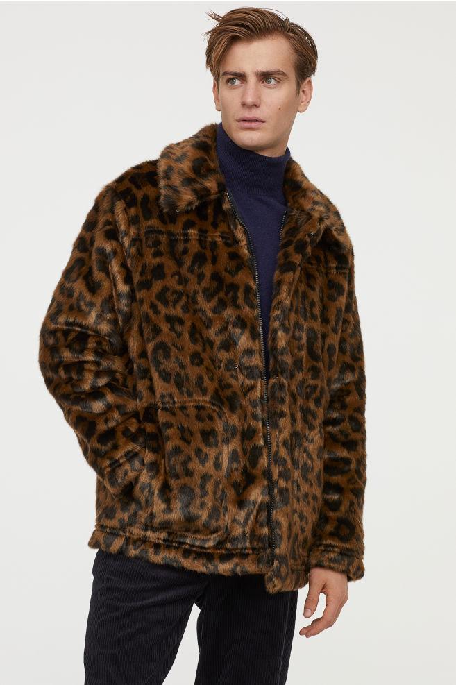 Faux fur jacket  H &M  SALE MEN'S    COAT  S & M  SIZES ONLY