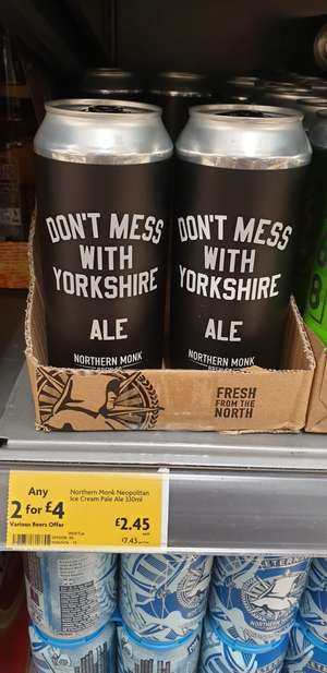 2 for £4 - Northern Monk Don't Mess With Yorkshire Ale - instore @ Morrisons