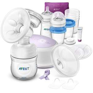 Philips Avent Single Electric Breast Pump AND Feeding Set - SCD292/31 @ Amazon Deals