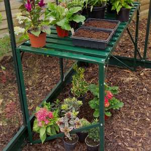 Greenhouse staging instore at B&Q. Down to £15 from £45.