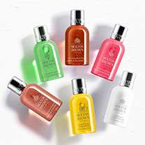Free 6 x 50ml pieces hair and body pack (worth £20)  Molton brown with £75 spend + 6 nectar points per £