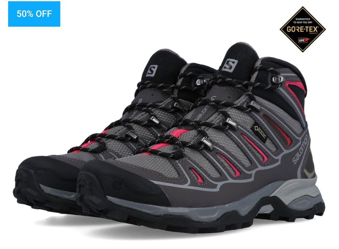 SALOMONX ULTRA MID 2 GORE-TEX WOMEN'S WALKING BOOTS £64.99 + £4.99 p&p at SportsShoes.com
