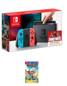 Nintendo Switch - Neon Red/Neon Blue + Mario and Rabbids Kingdom Battle £279.99 @ Game