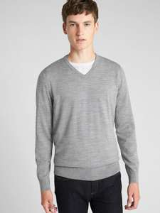 Gap:Men's merino wool jumpers from £19.95 (down from £39.95)