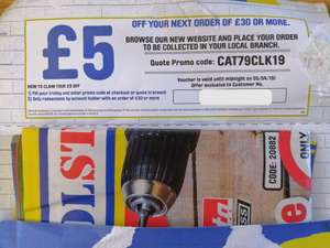 £5 off £30 @ Toolstation (Potentially account specific)