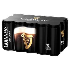Guinness Draught Cans 15 x 440ml + Free Guinness Glass =  £10 @ Morrisons
